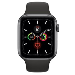 Apple Watch Series 5 GPS 44mm Space Gray Aluminum w. Black b.- Space Gray Aluminum (MWVF2)